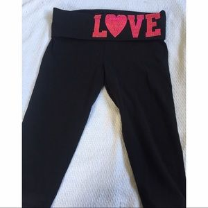 PINK Victoria's Secret Pants - Victoria Secret PINK BLING cropped yoga pants
