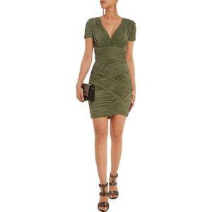 Halston Heritage Ruched Stretch Jersey Mini Dress