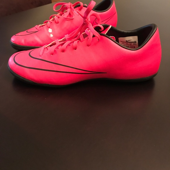 83 nike other boys pink soccer indoor shoes by nike