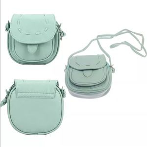 Handbags - Mint green vegan leather Crossbody Handbag NEW