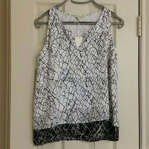 Mercer & Madison Tops - Mercer & Madison black & white sleeveless blouse