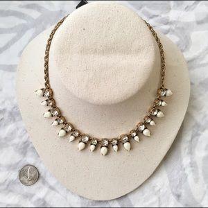 Jcrew white triangle statement necklace