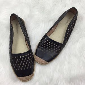 Wanted Shoes - 🌺Wanted Black Perforated Espadrille Flats Shoes