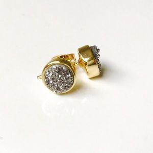 Bondhu Jewelry - 🌺 Gunmetal Gray Druzy Stud Earrings