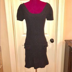 Liv Dresses & Skirts - Black Cable Sweater Dress
