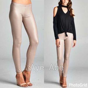 Pants - Sexy faux leather leggings pants new black white