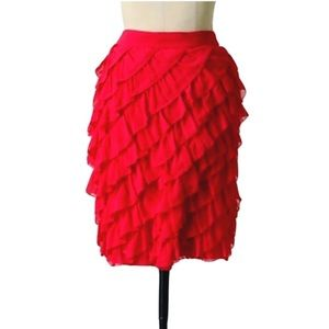Anthropologie Dresses & Skirts - Odille Sz 2 Anthropologie Red To-And-Fro Skirt