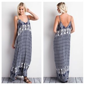 clmayfae Dresses & Skirts - 🆕MAYA Boho Print Navy Maxi Dress
