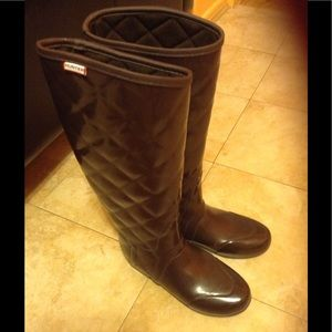 Hunter Boots Shoes - Hunter Brown Quilted Boots