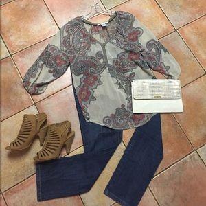 Contemporary sheer blouse