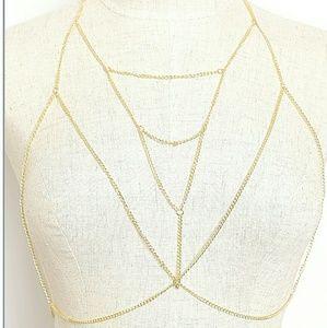 Jewelry - Gold Bra Chain