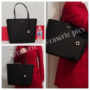 New Kate Spade large saffiano leather zip tote