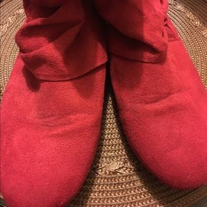 Shoes - Red ankle boots