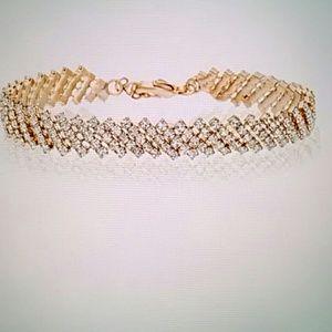 Bliss Jewelry - 5 Row Swarovski Elements Tennis Bracelet