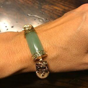 vintage Jewelry - Vintage Jade Gold Braclet