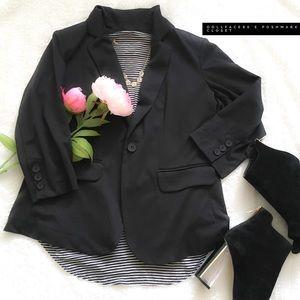 Olivia Moon Jackets & Blazers - Black Quarter Inch Sleeve Blazer