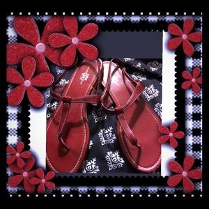 Shoes - Route 66 red sandals size 9 ❤️New Pictures❤️