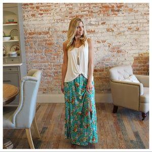 Dresses & Skirts - Jade floral maxi skirt