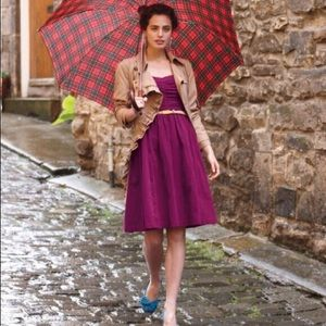Anthropologie HD in Paris Purple Paca Halter Dress
