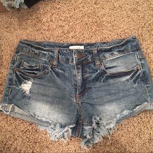 Blue Asphalt Pants - Denim shorts