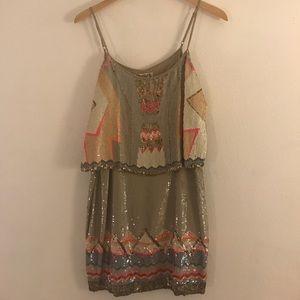 All Saints Spitalfields Sequin Mini Dress
