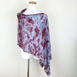 Acrobat Sweaters - Acrobat Asymmetrical Tie Dye Poncho