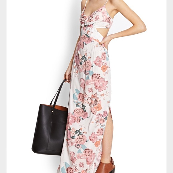 Forever 21 Dresses & Skirts - Forever 21 Floral cut out maxi dress