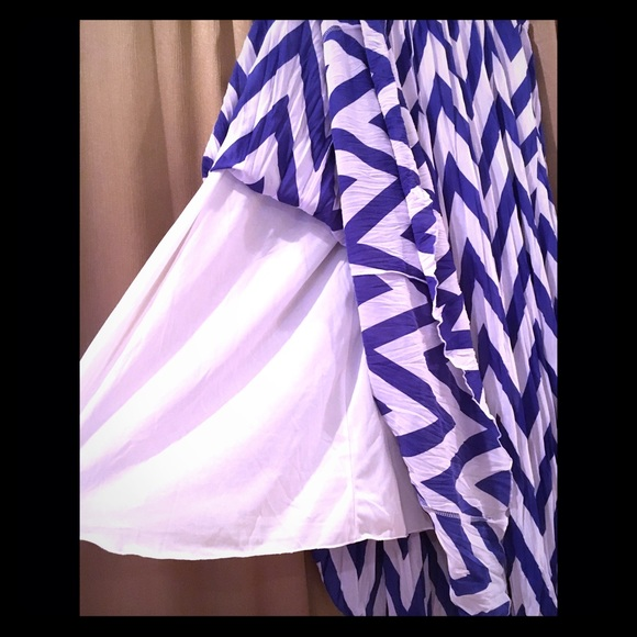 46 zac dresses skirts blue and white
