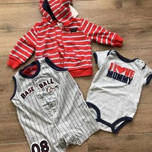 Carter's Other - Lot of 3 pcs 6 Month Baby Clothes Carters Baseball