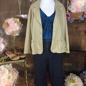 Sonoma Jackets & Blazers - Sonoma khaki blazer Inc capri Lane Bryant top
