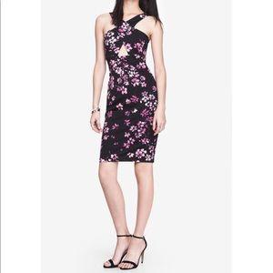 EXPRESS // Floral cutout midi dress Orig$ $98
