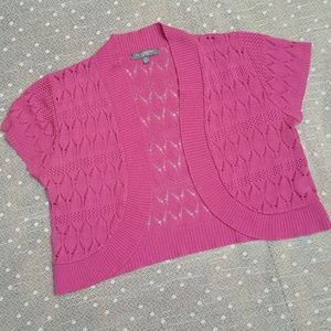 NY Collection Sweaters - NY Collection Pink Sweater Shrug