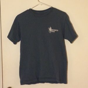 VINTAGE GRAY BLUE TEE SHIRT