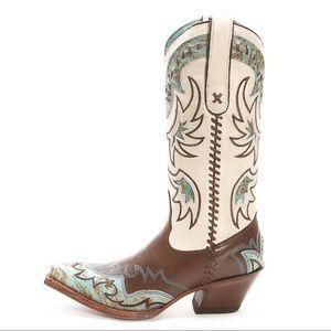 Tony Lama Shoes - Tony Lama Vaquero Turquoise Cassidy Cowgirl Boot