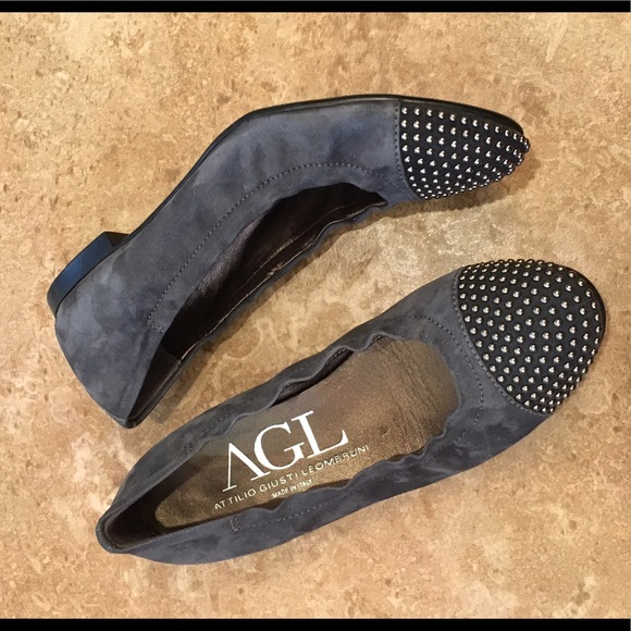 86 Off Agl Shoes Agl Blakely Studded Cap Toe Ballet