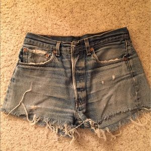 Levi's cut off shorts!