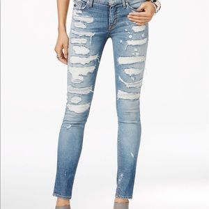 Hudson Jeans Denim - Hudson nico ripped skinny jeans