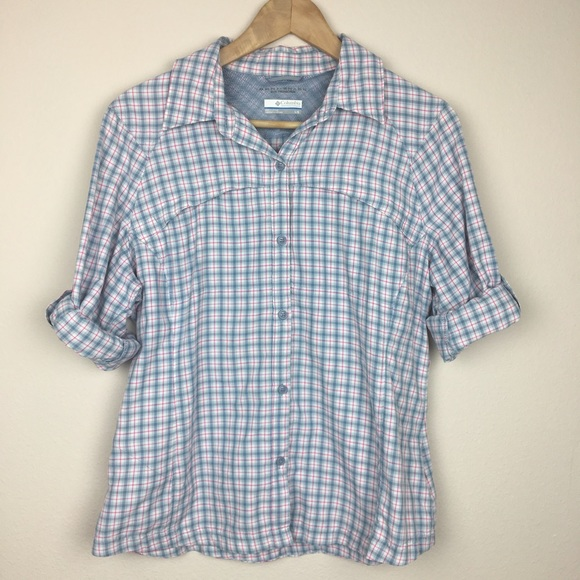 55 Off Columbia Tops Columbia Plaid Long Sleeve Button