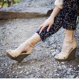 Free People Shoes - Nude Wedge Platform Sandal
