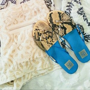 Dolce Vita Shoes - 🆕  Blue Snakeskin Sandals