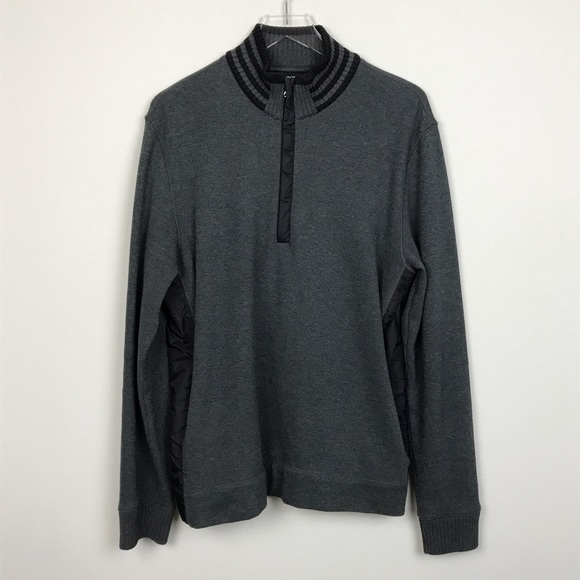 hugo boss boss hugo boss half zip sweater gray pullover l from jenna 39 s closet on poshmark. Black Bedroom Furniture Sets. Home Design Ideas