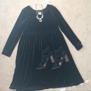 Reclaimed Vintage Dresses & Skirts - BLACK VELVET BABYDOLL DRESS