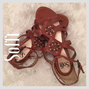Sofft Shoes - Sofft Redish Brown Sandals W/ Bead Embellishments