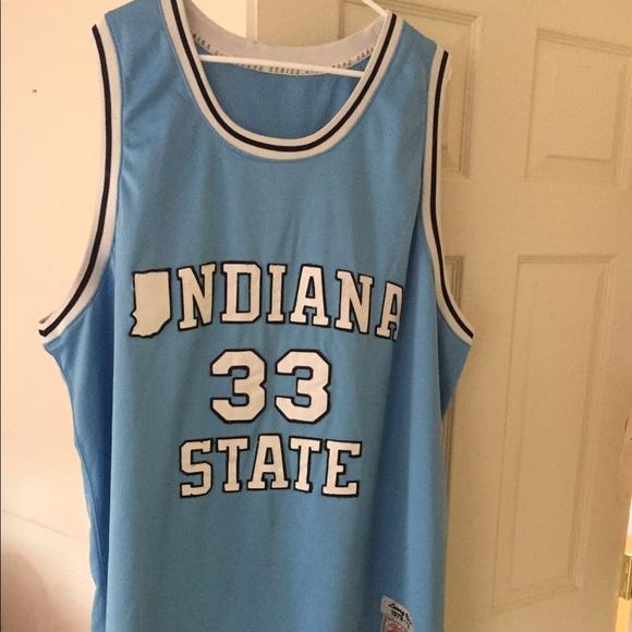 premium selection 7552d c5f61 Larry bird Indiana state away jersey