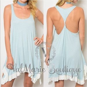 Sleeveless Handkerchief Hemline Dress