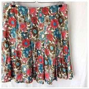 Boden Floral Linen Skirt