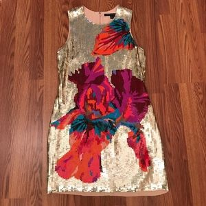 HOT 🔥 French Connection Gold Sequin Mini Dress!