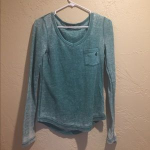 Buckle Tops - BUCKLE (volcom) long sleeve teal shirt SMALL