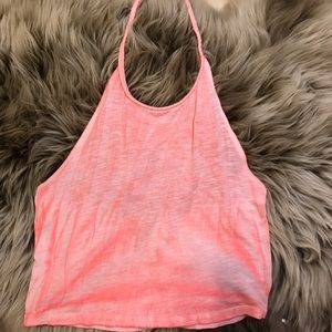 Ecoté Pink Halter Top From Urban Outfitters