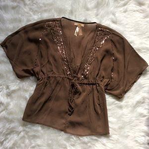 Tops - Sequin embellished blouse